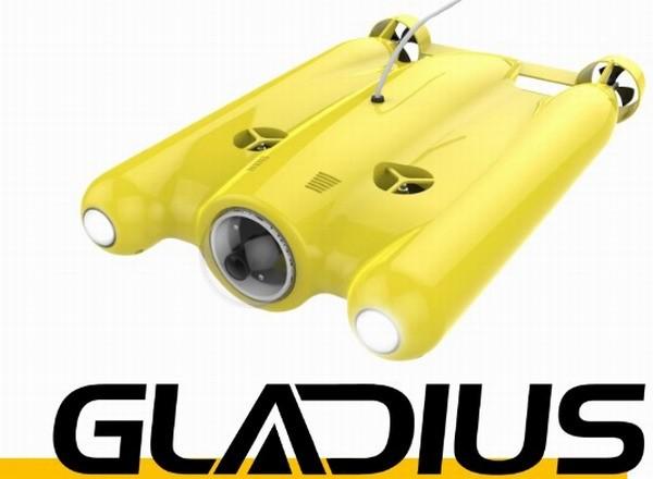 Дрон Gladius снимает в разрешении 4К под водой
