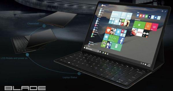 Lenovo показала уникальный концепт ноутбука Blade