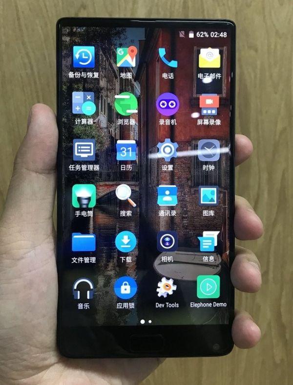 Безрамочный Elephone S8 скопирован с Xiaomi Mi Mix