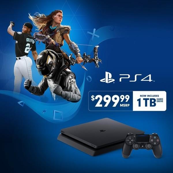 Sony выпустила PlayStation 4 Slim с винчестером на 1 терабайт