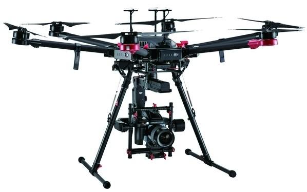 Камера дрона DJI M600 Pro снимает в разрешении 100 Мп