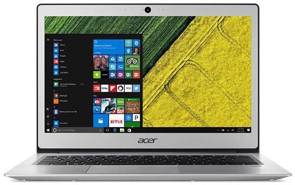 Корпус ноутбука Acer Swift 1 отлит из металла