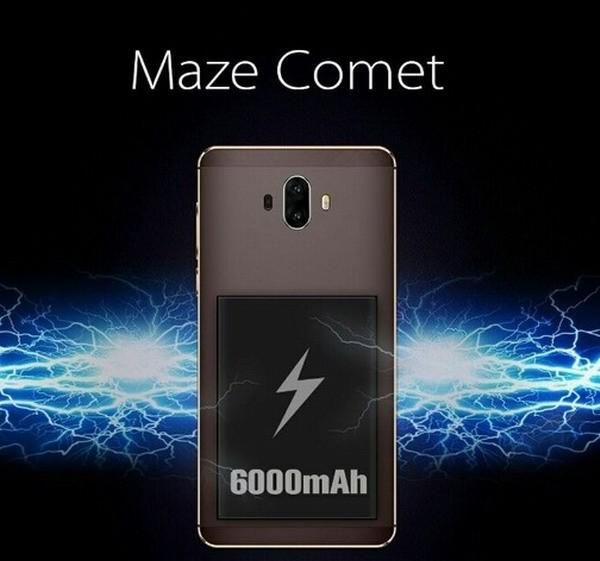 В Maze Comet есть двойная камера и аккумулятор на 6000 мАч