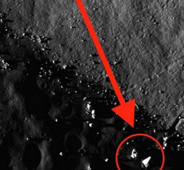На обратной стороне Луны уфолог обнаружил пирамиду инопланетян