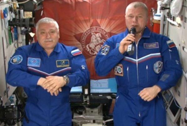 Космонавты на МКС поздравили народ России с Днем Победы