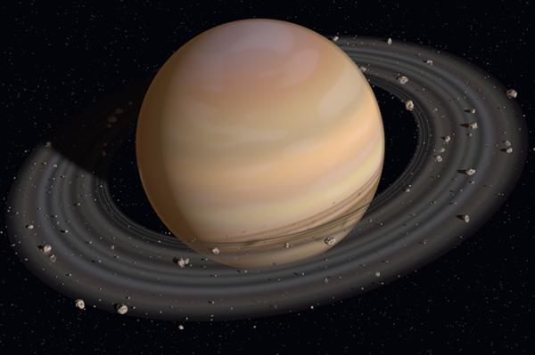 Учёные: Вращающиеся вокруг Сатурна спутники могут «самособираться»