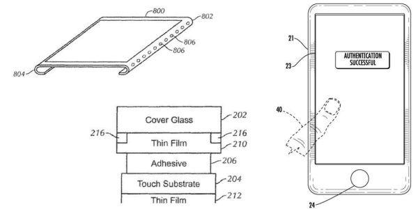 Apple хочет запатентовать экран со встроенным Touch ID