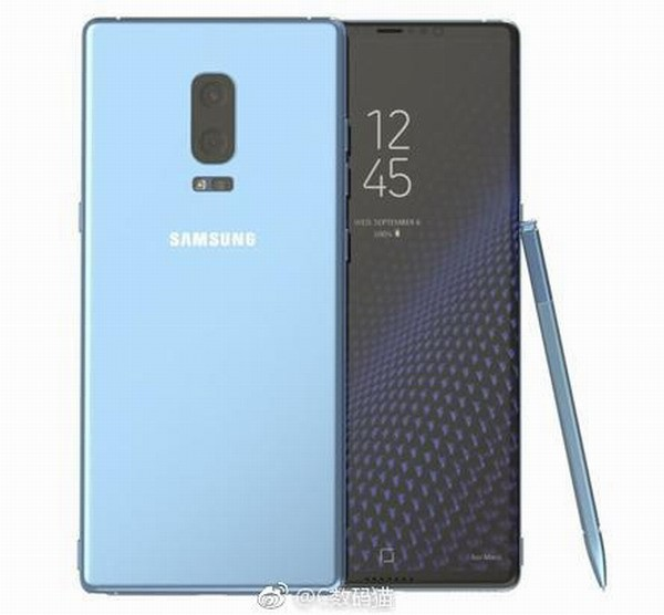 Опубликован новый рендер Samsung Galaxy Note 8