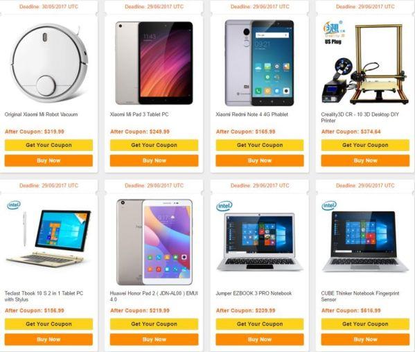 GearBest предлагает скидки для новых покупателей