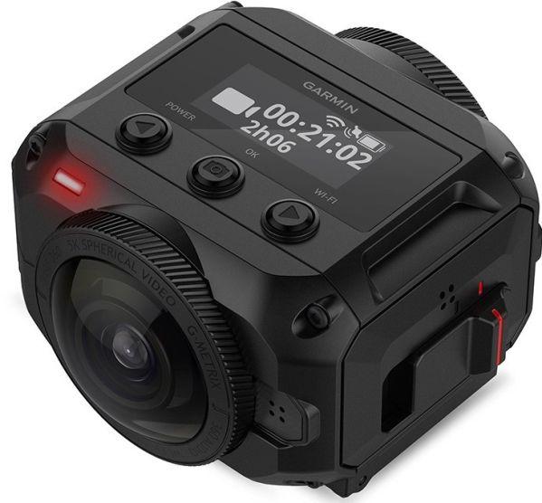 Камера Garmin VIRB 360 ведет панорамную съемку в высоком разрешении