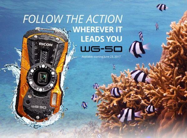 Бронированный фотоаппарат Ricoh WG-50 представлен официально