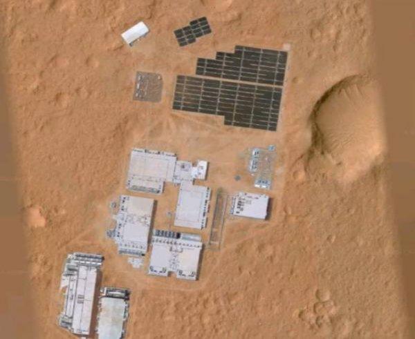 Google Space зафиксировал загадочную базу пришельцев на Марсе