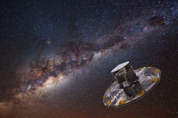 Телескоп Gaia зафиксировал шесть звезд, вылетающих из центра Млечного пути