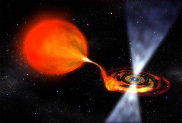 Учёные засняли «плевок» Чёрной дыры