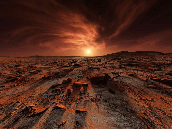 Ученые: Поверхность Марса может состоять на 40% из воды