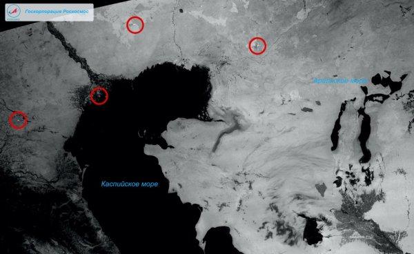Получен первый снимок с российского спутника, фиксирующего пожары