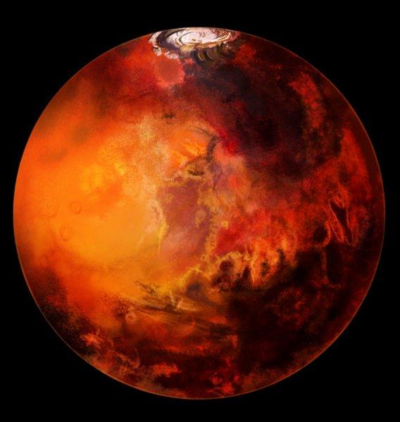 Астрономы нашли на Марсе скопления водяного льда