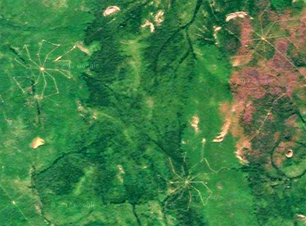 В Красноярском крае замечена гигантская «звездная карта»
