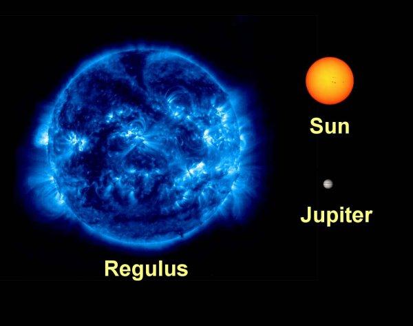 Звезда Регул предстала в поляризованном свете