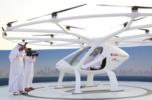 В Дубае протестировали первое в мире беспилотное летающее такси