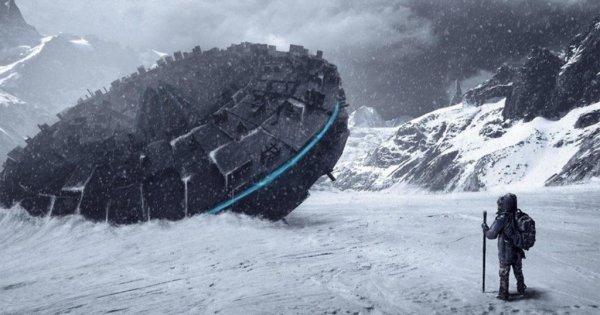 12-ти этажный корабль пришельцев найден в Антарктиде