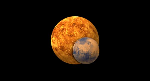 Жители Петербурга смогут увидеть редкое сближение Марса с Венерой
