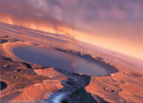 На Марсе обнаружили огромные запасы воды ученые NASA