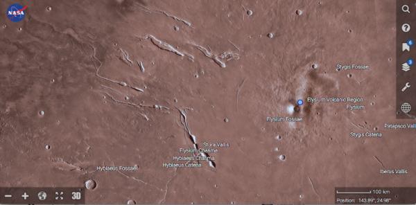 Британский уфолог обнаружила на Марсе шестикилометровый сперматозоид