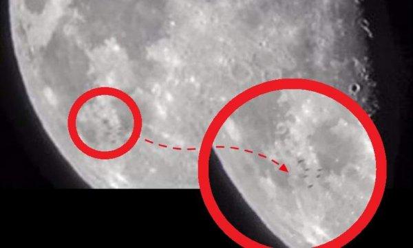 Жители английского Брэдфорда стали свидетелями перелета вереницы НЛО над Луной