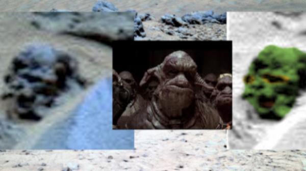 Уфолог обнаружил на Марсе останки пришельца из «Пятого элемента»: Детали рельефа или инопланетянин?