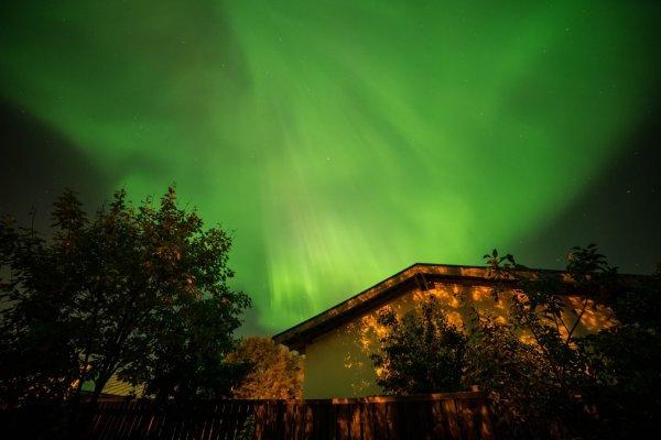 Над Финским заливом петербуржцы увидели северное сияние