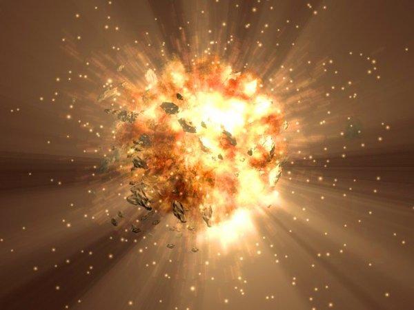 В далекой галактике созвездия Печи произошел сверхмощный взрыв