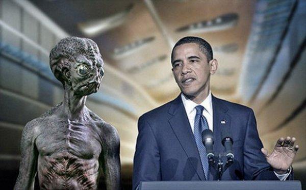 Барак Обама рассекретит файлы о пришельцах, если его поддержат в борьбе против СПИД