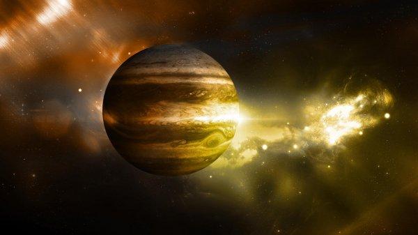 NASA опубликовало снимок спиральных облаков Юпитера