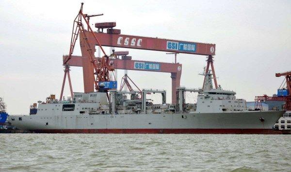 В Китае был запущен первый электрический грузовой корабль