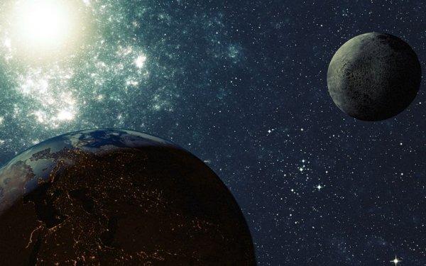Ученые: Столкновения после образования Луны изменили вид древней Земли