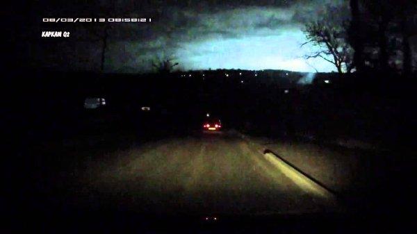 Жителей Сызрани напугала голубая вспышка, попавшая на видео