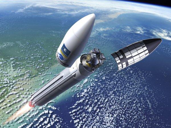 С космодрома Куру стартовала ракета с французскими спутниками Galileo