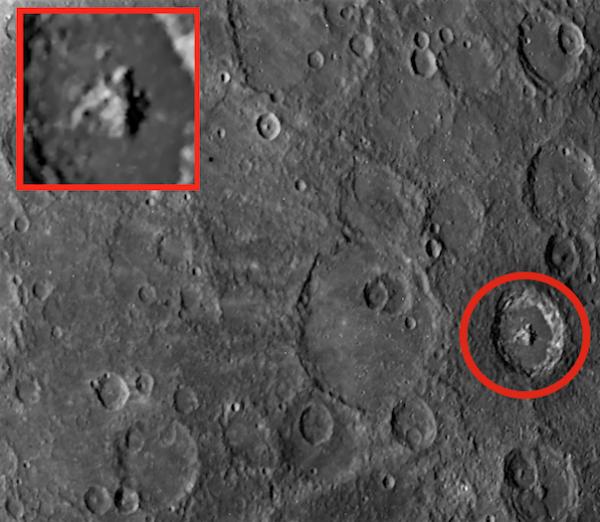 Древняя пирамида в кратере Меркурия: NASA ретуширует фото, опубликованные Уорингом
